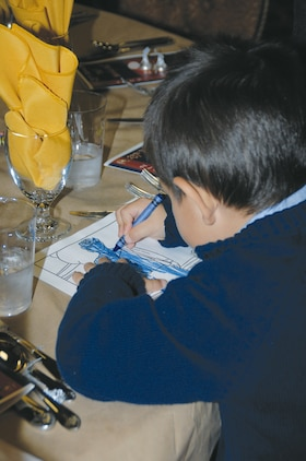About 150 people, 72 of them children ages   2 - 14, attended the first-time Kids' Marine Corps Birthday Ball at Marine Corps Logistics Base Albany's Town and Country Restaurant's Grand Ballroom, Nov. 3.