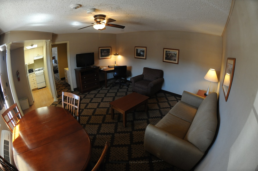 Military members, retirees, dependents and civilians are all welcome to stay at the Barksdale Inn. For military members needing lodging for an extended period of time, the inn offers rooms that come equipped with a full kitchen. (U.S. Air Force photo/Senior Airman Micaiah Anthony)(RELEASED)