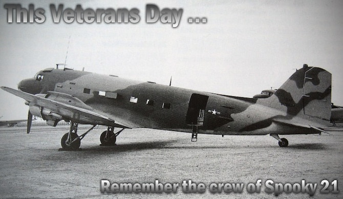 This Veterans Day, remember the crew of Spooky 21. (U.S. Air Force photo graphic by Airman 1st Class Taylor Curry)