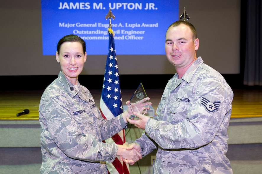 Staff Sgt. James Upton presented the Major General Lupia Award, NCO Category.