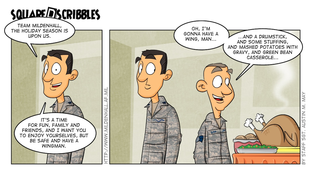 U.S. Air Force comic by Staff Sgt. Austin M. May/Released