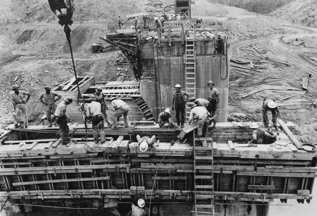 Nimrod Dam Construction