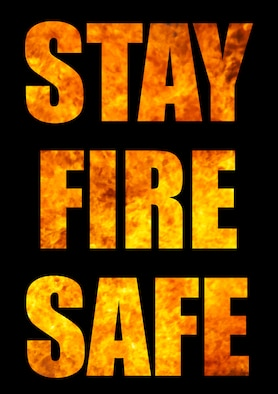Make fire safety a priority year-round. U.S. Air Force graphic by Susan Scheuer