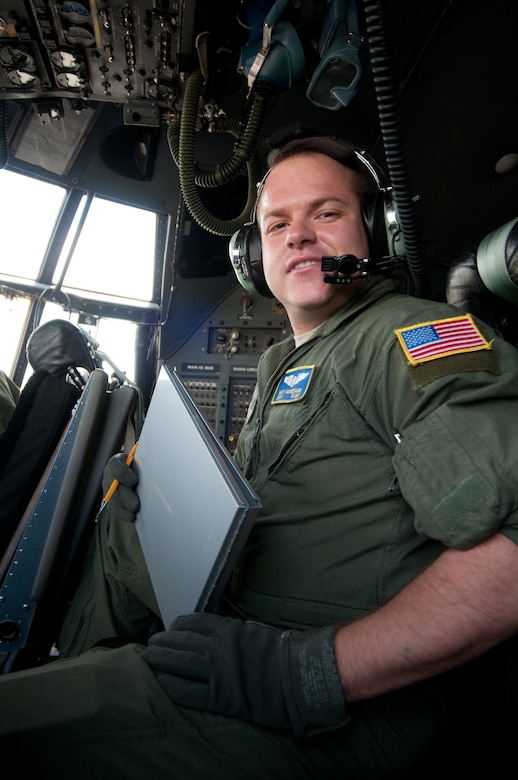 Tech. Sgt. Matthew McKeehan is a flight engineer for the Kentucky Air National Guard's 165th Airlift Squadron. Flight engineers are responsible for monitoring fuel systems, electrical systems, hydraulics and pneumatics. Sitting between three officers on the flight deck, they also compute take-off and landing data. (U.S. Air Force photo by Master Sgt. Phil Speck)