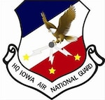 HQ Iowa Air National Guard Crest. In accordance with Chapter 3 of AFI 84-105, commercial reproduction of this emblem is NOT permitted without the permission of the proponent organizational/unit commander