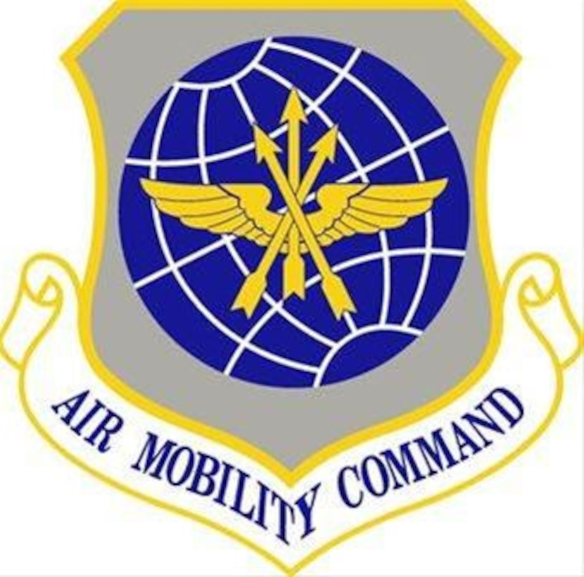 Air Mobility Command Crest. In accordance with Chapter 3 of AFI 84-105, commercial reproduction of this emblem is NOT permitted without the permission of the proponent organizational/unit commander