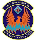 605th Test & Eval SQ Crest. In accordance with Chapter 3 of AFI 84-105, commercial reproduction of this emblem is NOT permitted without the permission of the proponent organizational/unit commander