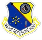 185 Air Refueling Wing Shield. In accordance with Chapter 3 of AFI 84-105, commercial reproduction of this emblem is NOT permitted without the permission of the proponent organizational/unit commander