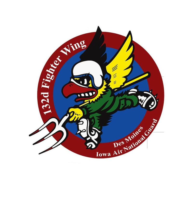 132d Fighter Wing Emblem. In accordance with Chapter 3 of AFI 84-105, commercial reproduction of this emblem is NOT permitted without the permission of the proponent organizational/unit commander