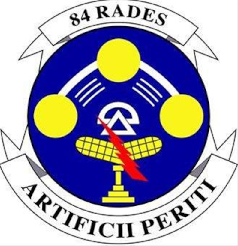 84 Rades Crest. In accordance with Chapter 3 of AFI 84-105, commercial reproduction of this emblem is NOT permitted without the permission of the proponent organizational/unit commander
