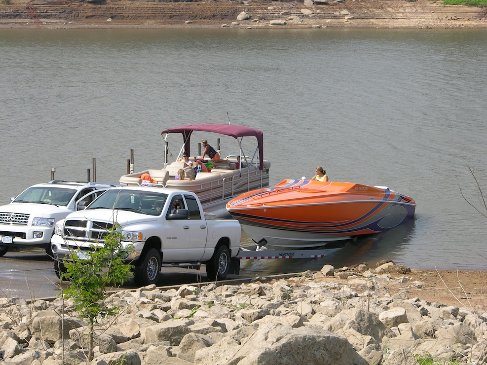 Boaters at South Overlook ramp