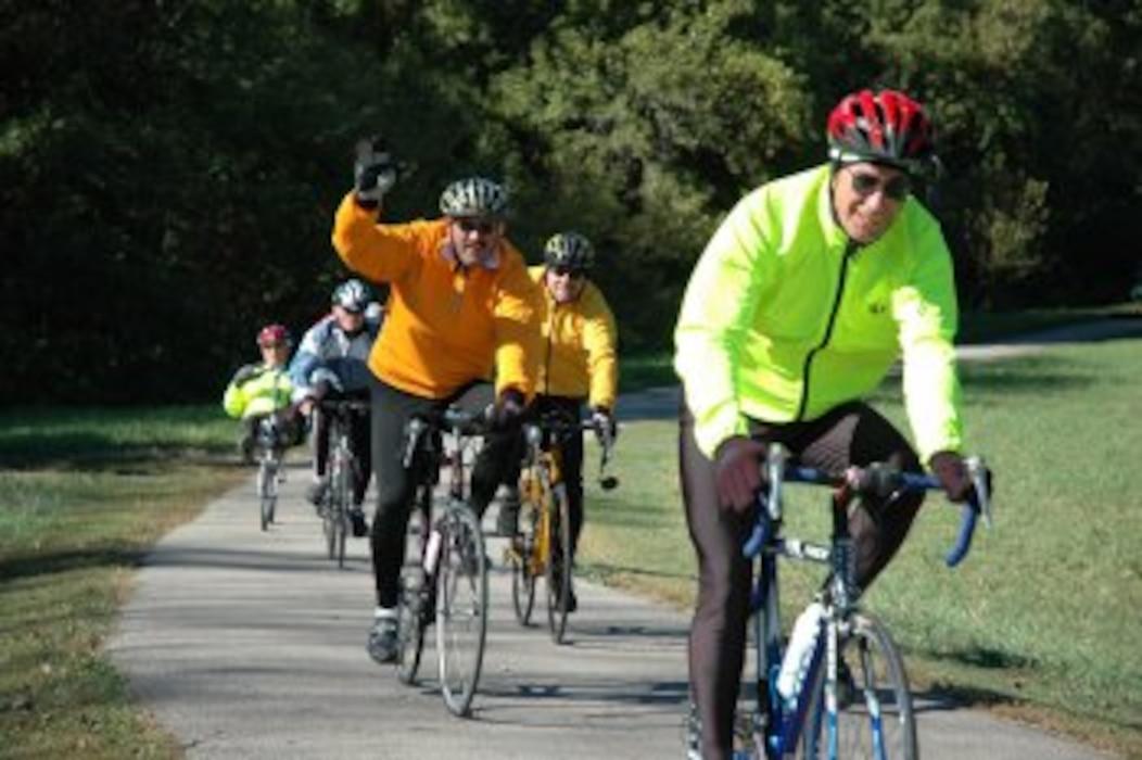 Bikers on Volksweg Trail