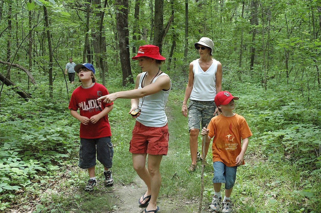 Hikers along North Overlook Nature Trail