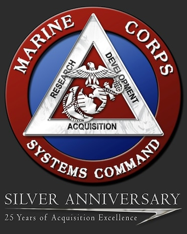 This logo was created specifically for Marine Corps Systems Command's 25th Anniversary.