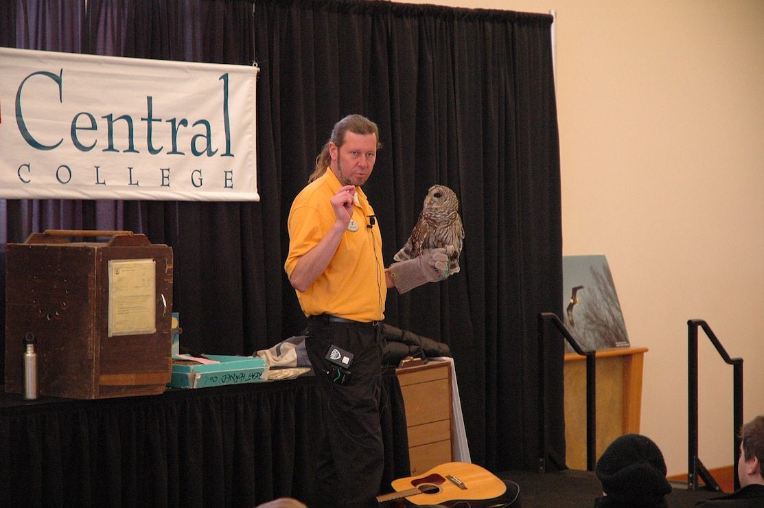 Presenter with Barred Owl