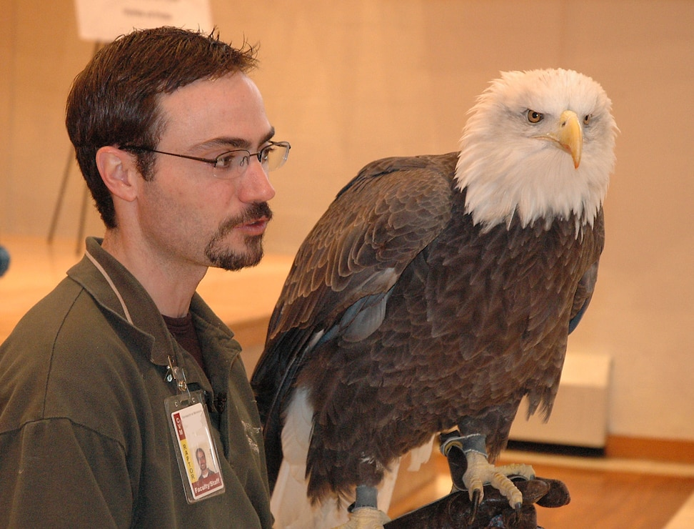 Presenter with Bald Eagle
