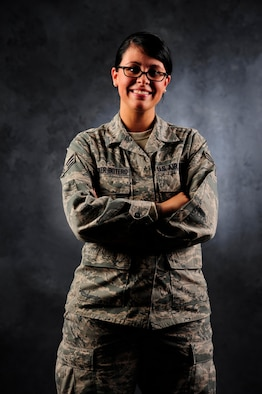 Senior Airman Kayla Becker-Botero, 375th Force Support Squadron customer support technician, used her resiliency training skills to save her friend's life in March.Her friend was involved in an abusive relationship with a woman he shared a daughter with. (U.S. Air Force photo/Airman 1st Class Jake Eckhardt