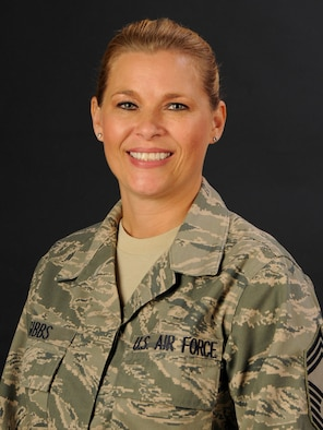 Chief Master Sgt. Kellie Gibbs with the 169th MDG at McEntire Joint National Guard Base, S.C., poses for her portrait on Nov. 2, 2012.
