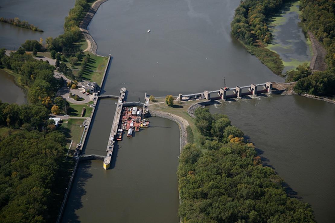 Lock and Dam 3, Welsh, Minn. Upper Mississippi River mile 796.9.