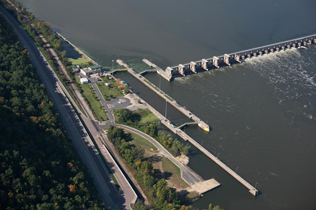 Lock and Dam 5, Minnesota City, Minn. Upper Mississippi River mile 738.1