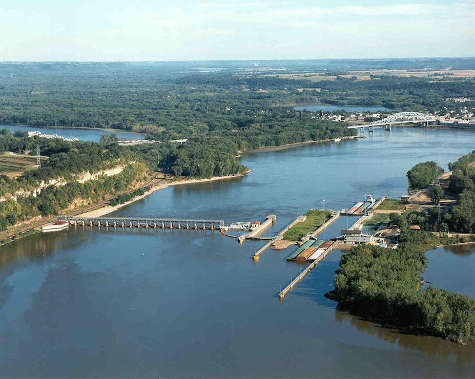Lock and Dam 2, Hastings, Minn. Upper Mississippi River mile 815.2