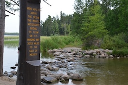 Mississippi River headwaters at Lake Itasca
