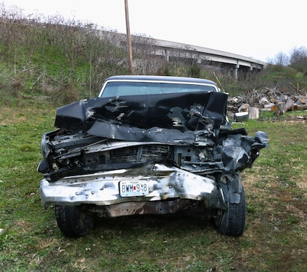 Vehicle after a head-on collision with another truck. (Courtesy photo)