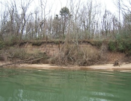 An image of Moccasin Bend's erosion issue in Chattanooga, Tenn. (USACE phto)