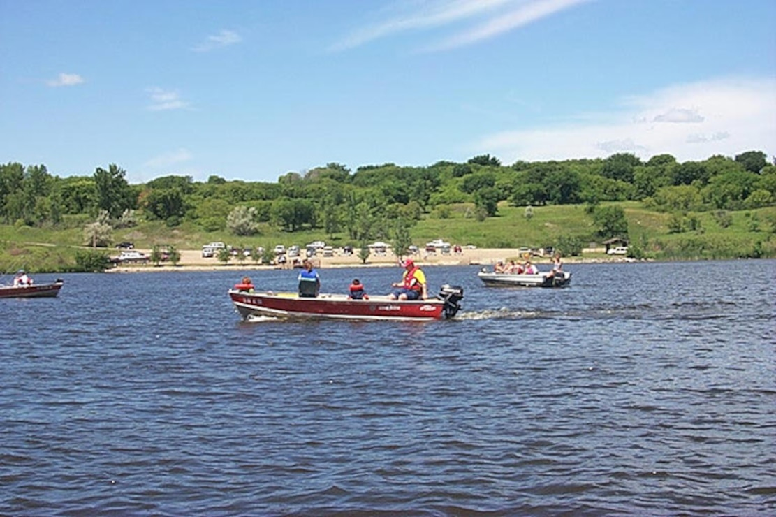 Lake Ashtabula boating and fishing. The St. Paul District operates 49 recreation areas, ranging from public landings along the Mississippi River to lock and dam visitor centers to full-service campgrounds. These recreation areas are an important component of the region's tourism industry, and the impact on the local and regional economies is significant.