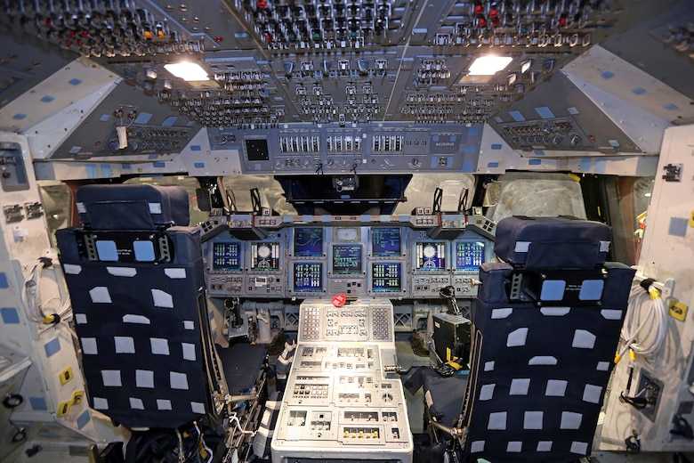DAYTON, Ohio -- Flight deck of the Crew Compartment Trainer (CCT-1) at the National Museum of the U.S. Air Force. (Photo courtesy of Don Popp)