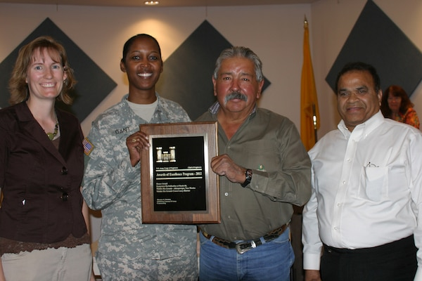 From L to R: District Project Manager Alicia Austin Johnson, District Commander Lt. Col.