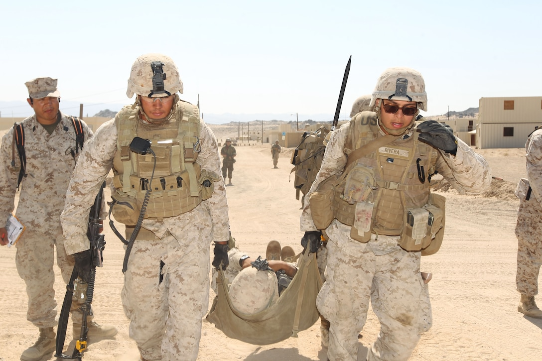 Pfc. Allen Austin, infantryman, 2nd Platoon, Company A, provides 1st Battalion, 3rd Marine Regiment, during the Clear, Hold, Build-4 portion of Enhanced Mojave Viper at Range 215 Sept. 25, 2012.