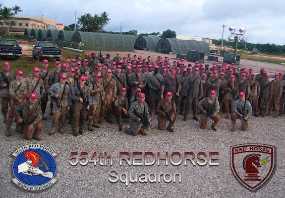 The 554th REDHORSE Squadron is the oldest REDHORSE squadron in the Air Force. The Rapid Engineer Deployable Heavy Operations Repair Squadron Engineers are trained to be self-sustaining and build and open bases in the most austere environments. (U.S. Air Force illustration by Airman 1st Class Marianique Santos/Released)