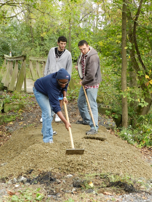 Volunteers cleared trails, cleaned up litter and debris, repaired a bridge and worked on other projects at Blue Marsh Lake in celebration of National Public Lands Day Sept 29.