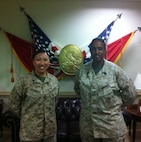 MSgt Alexander and Sgt Campbell of ASCO visit the CMC Office.