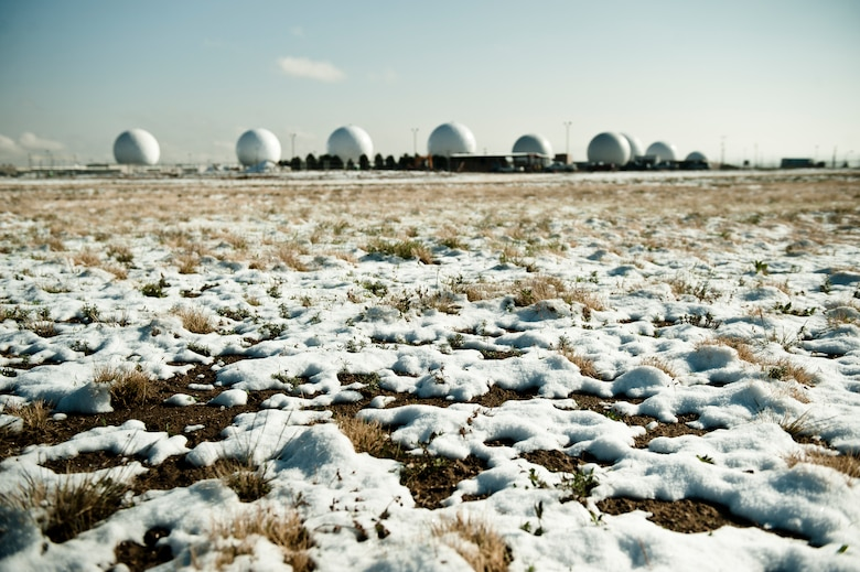 BUCKLEY AIR FORCE BASE, Colo. --   The first snow of the year Oct. 10, 2012. (U.S. Air Force photo by Airman 1st Class Phillip Houk)
