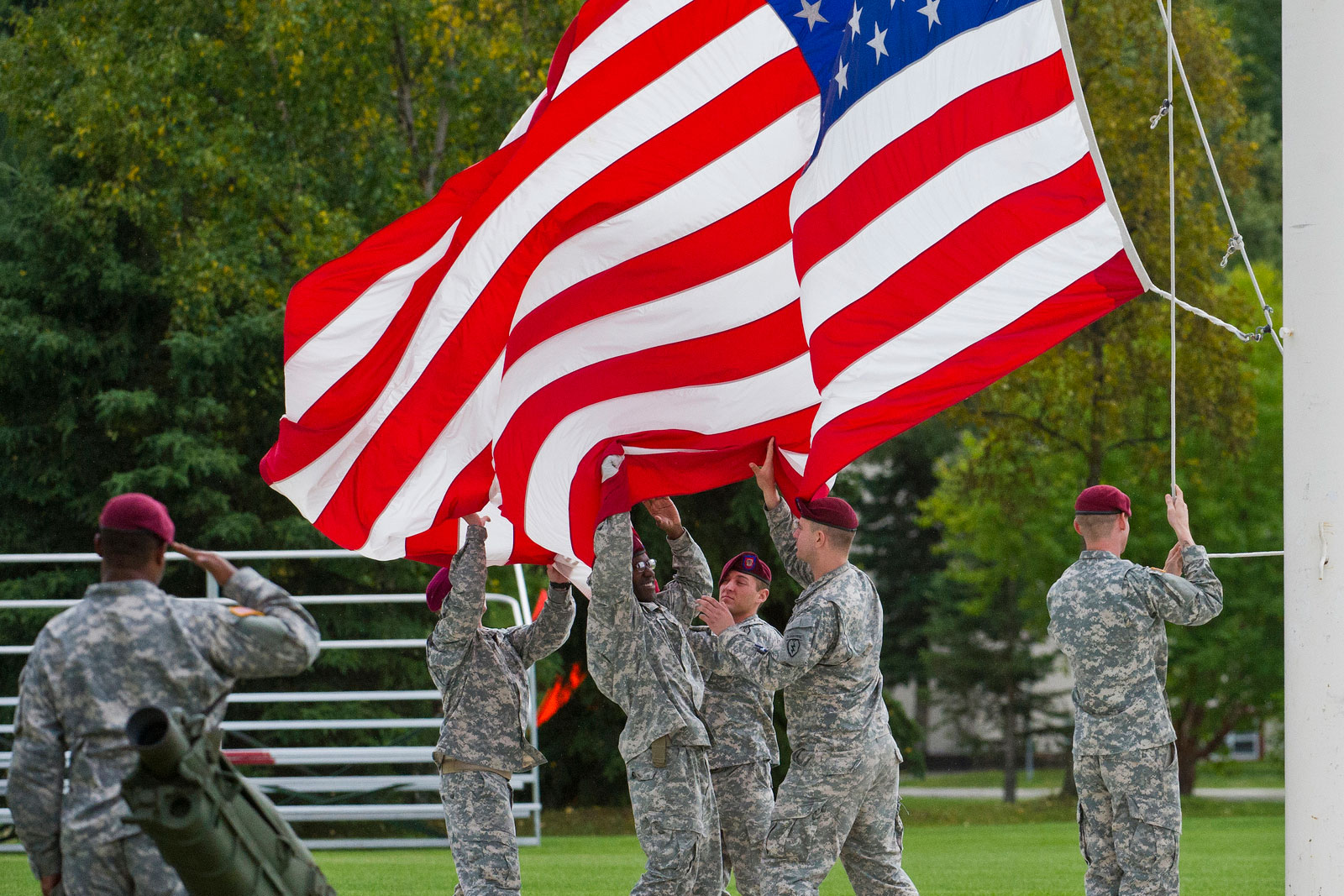 Rendering Courtesy And Honors To The FLAG gt Joint Base Elmendorf  F LX  Rendering Courtesy And Honors To The Flag