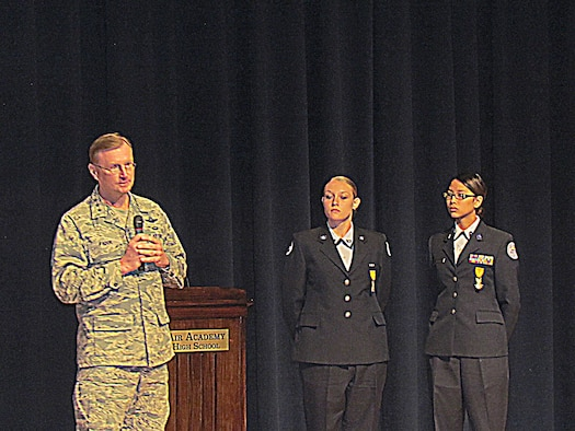 Lt. Gen. David Fadok, Air University commander and president, addresses an