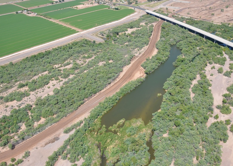 PHOENIX - The Tres Rios Phase III Flow Regulating Wetlands, built by the U.S. Army Corps of Engineers Los Angeles District, received the 2012 Crescordia award from the Valley Forward Association in the Site Development and Landscape: Public Sector category. As part of Phase III, the District removed invasive plants along the river in order to help bring back a riparian corridor populated by more native vegetation.