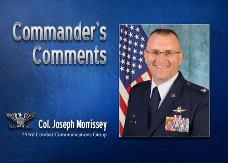 Commander's Comments: Col. Joseph Morrissey
