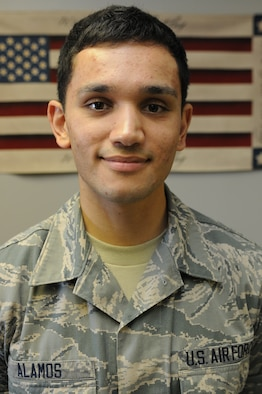 Airman in the Spotlight: Airman 1st Class Eddel Alamos. (Air National Guard photo by Senior Airman Jeremy Bowcock/Released)