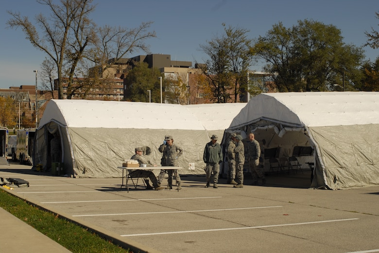 19th CERFP deployed from Terre Haute, Indiana, this Saturday October the 6th to participate in a disaster response exercise hosted by IU Health, Ball Memorial Hospital in Muncie, Indiana.