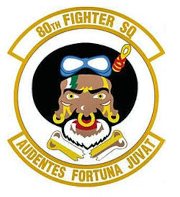 The 80th Fighter Squadron flies the F-16 Fighting Falcon out of Kunsan Air Base, Republic of Korea, and is one of two fighter squadrons assigned to the 8th Fighter Wing, the Wolf Pack.