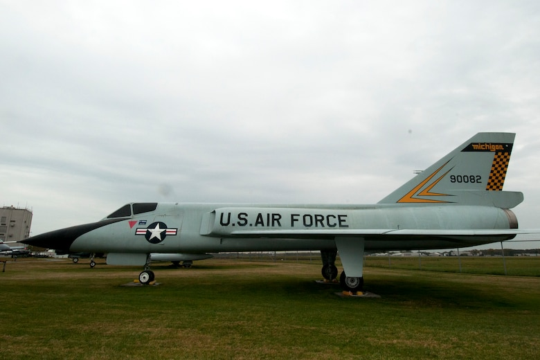 An F-106 Delta Dart is on display at the Selfridge Military and Air Museum at Selfridge Air National Guard Base, Mich., Oct. 13, 2012. This aircraft is marked with the insignia that it featured while flown by the Michigan Air National Guard at Selfridge during the 1970s. During the 1960s, it was flown by two active duty Air Force squadrons at the base and was deployed as part of the response to the Cuban Missile Crisis, which happened 50 years ago this month. (Air National Guard photo by TSgt. Robert Hanet)