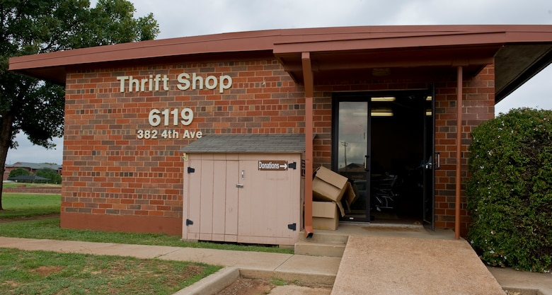 The Dyess Thrift Store, located on 4th Ave in building 6119, is open Tuesdays and Thursdays from 9 a.m. to 1:30 p.m. and the first Saturday of the month from 10 a.m. to 1 p.m. Anyone with a military or Department of Defense identification card is allowed to shop. (U.S. Air Force photo by Airman 1st Class Charles V. Rivezzo/ Released)
