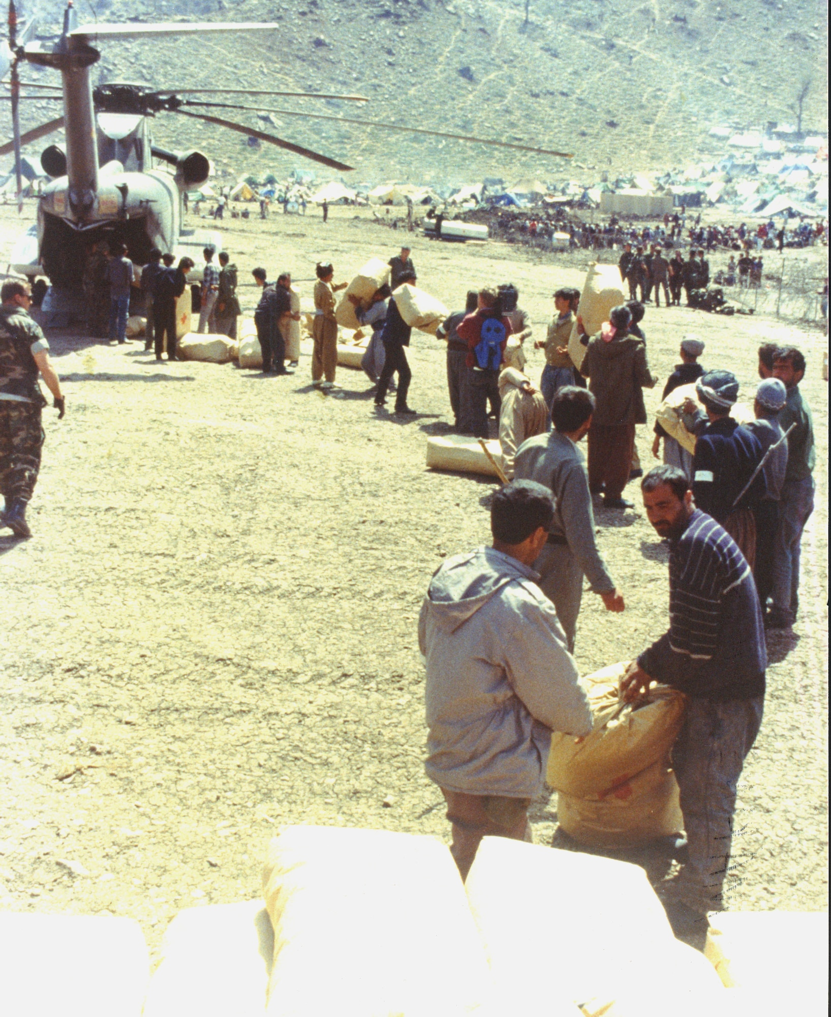Following the Gulf War, coalition forces provided humanitarian aid to Kurds on the Iraqi/Turkish border in 1991 during Operation Provide Comfort. In addition, Air Force Special Operations Command aircraft stood alert for personnel recovery and various other missions in support of Operation Southern Watch. During July 1992, AFSOC units began participation in Operations Provide Promise and Deny Flight, the humanitarian relief effort and no fly zone security in the Balkans. (courtesy photo)