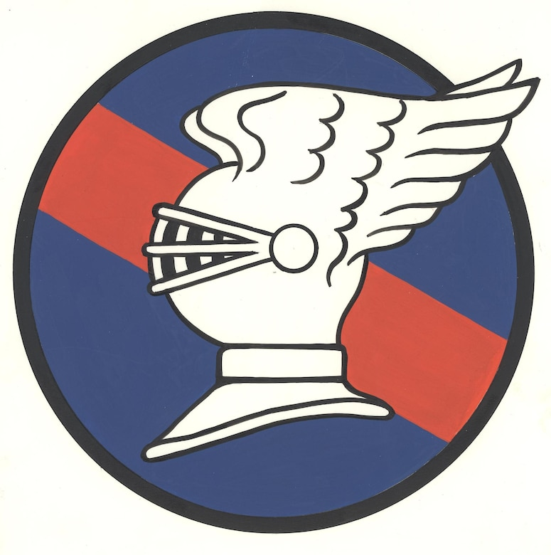 The original 9th Fighter Squadron emblem approved 1946. (Courtesy Graphic)