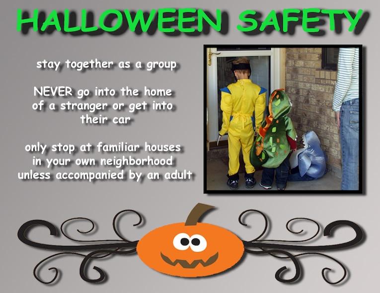 Halloween Safety (U.S. Air Force illustration by Lou Czarnecki)