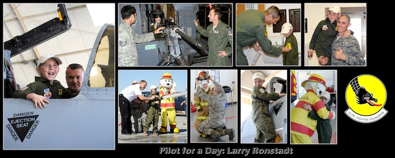 Pilot for a Day is a program which provides children with a terminal illness a day to visit the base and become an honorary pilot for one of the operational squadrons.  (U.S. Air Force photo by 1LT Susan Harrington/released)