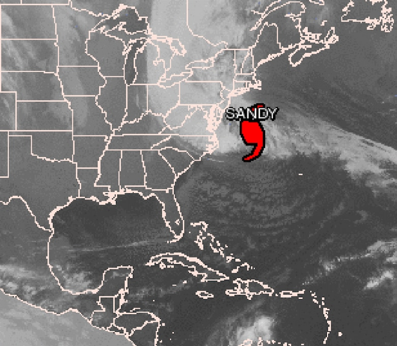 Graphical tropical weather outlook for Hurricane Sandy. Courtesy of National Hurricane Center.